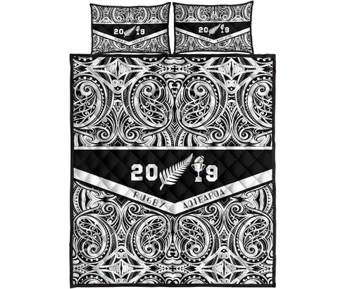Quilt Bed Set NZ Aotearoa Rugby Win 2019 K4 - 1st New Zealand
