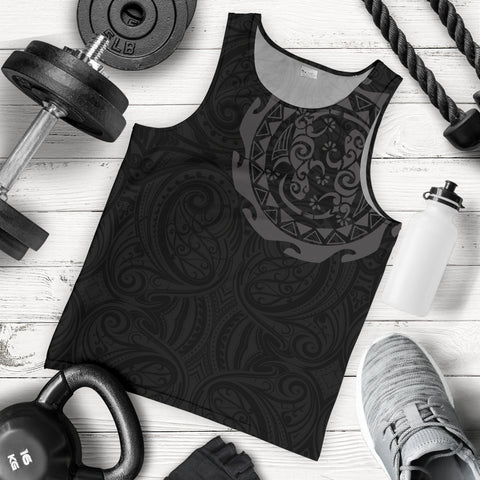 New Zealand Tank Tops, Maori Tangaroa Tattoo Sleeveless Shirts A75 - 1st New Zealand