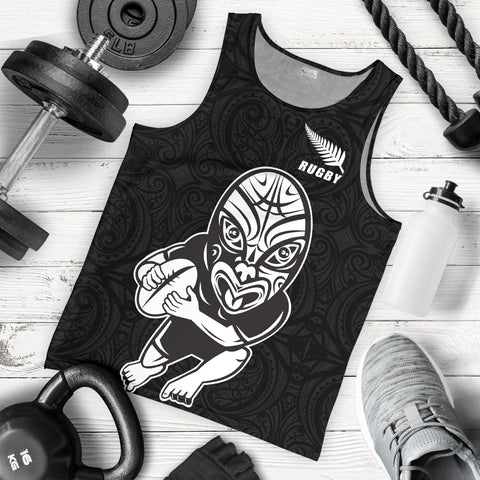New Zealand Warriors Rugby Tank Tops, Maori Silver Fern Sleeveless Shirts K4 - 1st New Zealand