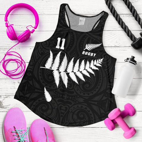New Zealand Women Racerback Tank, Legend of Rugby K4 - 1st New Zealand