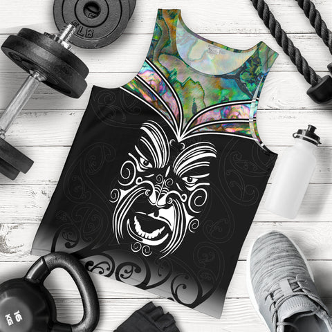 New Zealand Tank Tops, Maori Face Tattoo Sleeveless shirts K4 - 1st New Zealand