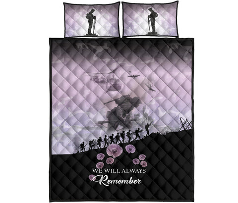 Remember Anzac New Zealand Quilt Bed Set Angel Pink K5 - 1st New Zealand
