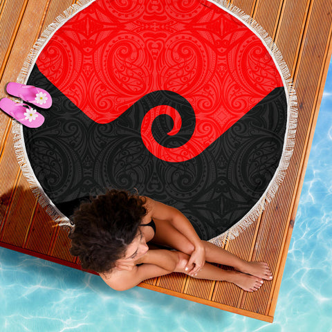 Image of Koru New Zealand Beach Blanket K4 Front 5