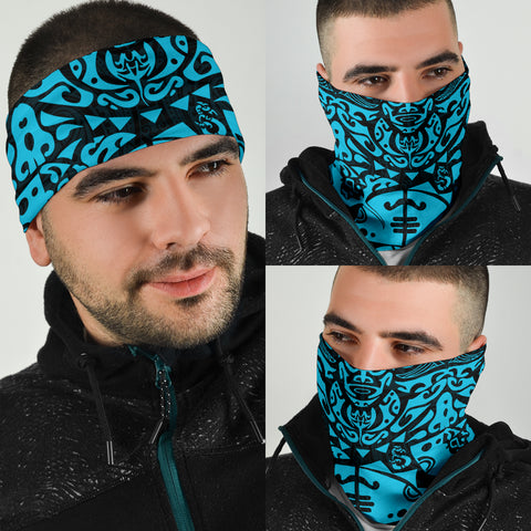 New Zealand Maori Tangaroa Tattoo Bandana - Blue K5 - 1st New Zealand