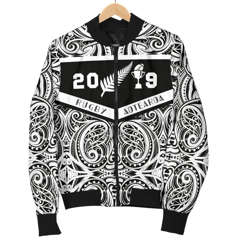 Image of Aotearoa Rugby Win 2019 Men's Bomber Jacket K4 - 1st New Zealand