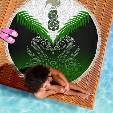 Beach Blanket NZ Maori Manaia Green K4 - 1st New Zealand