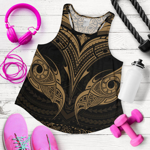 New Zealand The Mana Maori Women Racerback Tank Gold TH5 - 1st New Zealand