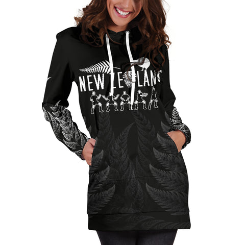 NZ Hoodie Dress Haka Rugby Exclusive Edition K4 - 1st New Zealand