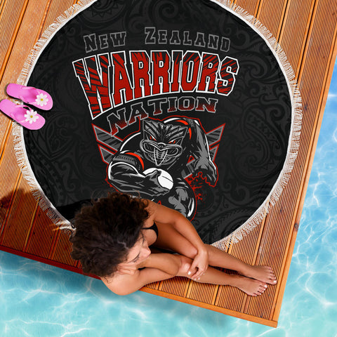 Image of New Zealand Warriors Beach Blanket Unique K4 Front 5
