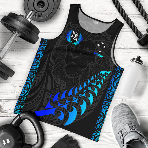 Image of New Zealand Maori Rugby Lion Tank Top - Men K5 - 1st New Zealand