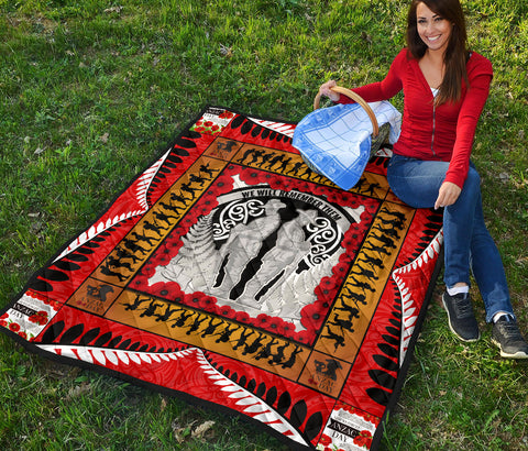 New Zealand Anzac Day Quilt Lest We Forget K4 - 1st New Zealand