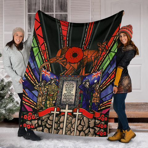 New Zealand Blanket, Anzac Day Lest We Forget Australia Premium Blanket Th00 - 1st New Zealand