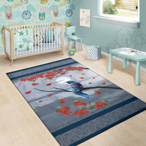 Tui Bird By Night Area Rug K57 - 1st New Zealand