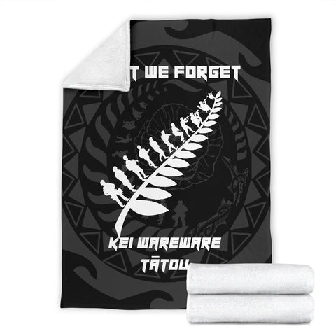 Image of Anzac Tattoo New Zealand, Lest We Forget Premium Blanket K5