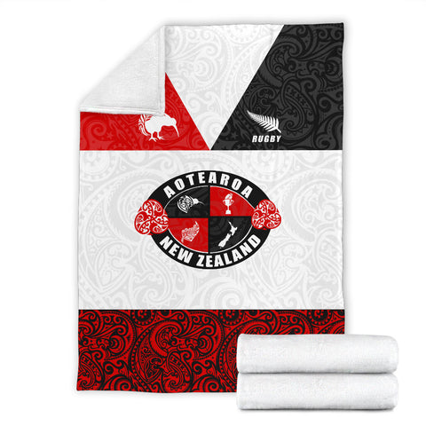 Rugby New Zealand Aotearoa Rugby Champion Premium Blanket K4 - 1st New Zealand