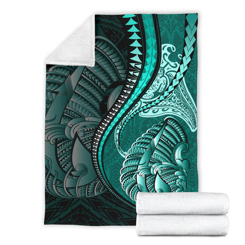 Fish Hook Premium Blanket Manta Polynesian Turquoise TH65 - 1st New Zealand