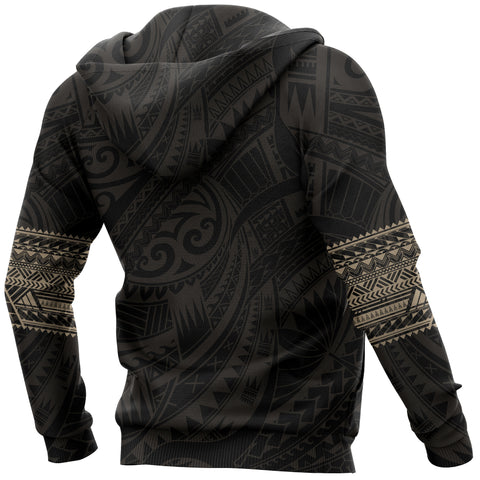 Image of Aotearoa Maori Tattoo All Over Hoodie Gold K4 - 1st New Zealand