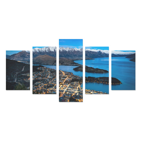 Image of New Zealand Queenstown at Night Canvas Print K4 - 1st New Zealand