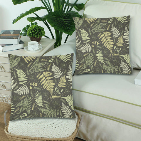 new zealand pillow, home decor, home set, pillow cover, pillow cases, zippered pillow cases, online shopping, 1stnewzealand, silver fern, fern leaves