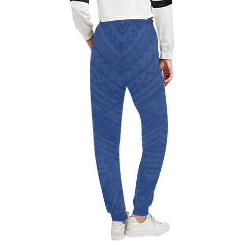New Zealand Maori Sweatpants with Blue color - Back - For Women