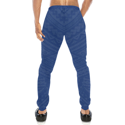 New Zealand Maori Sweatpants with Blue color - Back - For Men