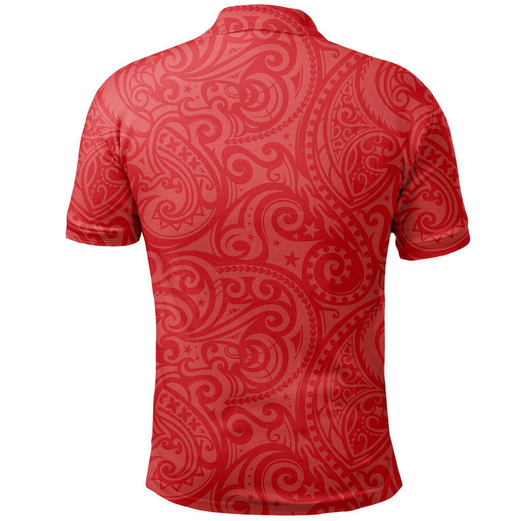 Rugby Kia Kaha Be Strong Shirt Red Version 2 K4
