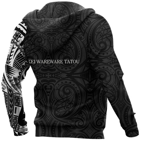 Anzac Hoodie, New Zealand Lest We Forget Maori Tattoo Pullover Hoodie A75 - 1st New Zealand