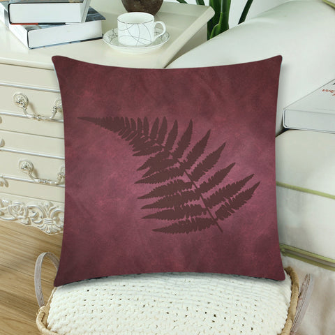 Image of Silver Fern New Zealand Zippered Pillow Case - Red - 1st New Zealand