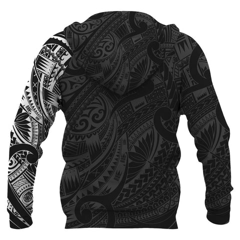 Image of Maori Tattoo Style All Over Hoodie White Version - 1st New Zealand