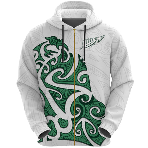 Image of Maori Protection Tattoo Zip Hoodie K4 - 1st New Zealand