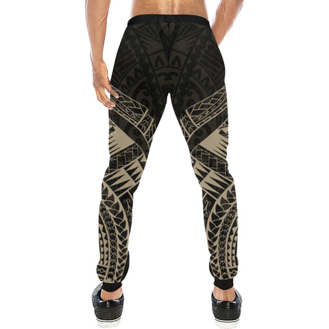 Maori Tattoo New Zealand Sweatpants with Golden color - Back - For Men