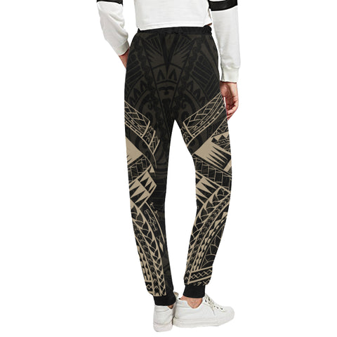 Maori Tattoo New Zealand Sweatpants with Golden color - Back - For Women