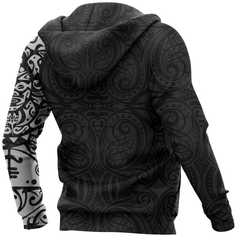 Image of Maori Tangaroa Tattoo New Zealand All Over Hoodie - White A75 - 1st New Zealand