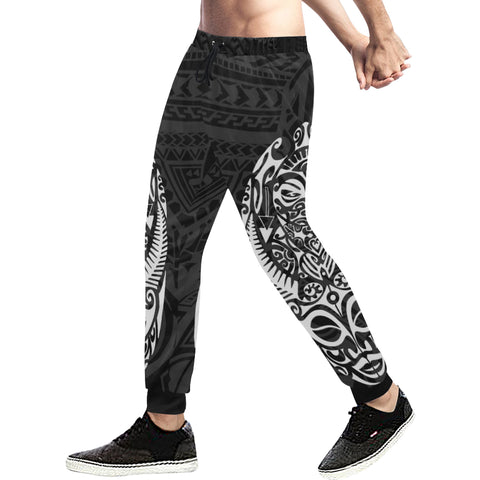 Maori Tattoo New Zealand Sweatpants White 02 K5