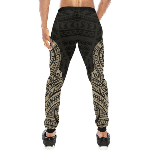 Maori Tattoo New Zealand Sweatpants Version 2.0 with Golden color - Back - For Men