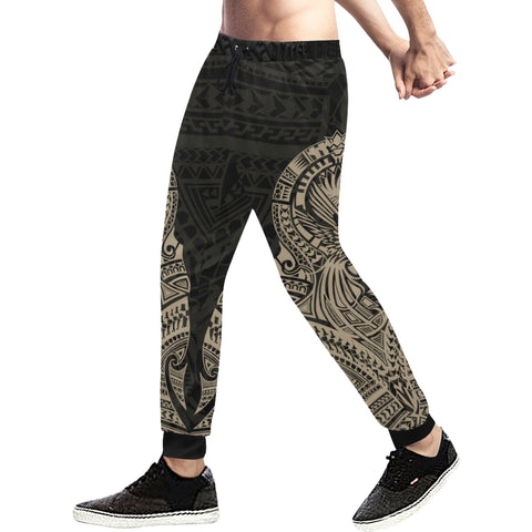 Maori Tattoo New Zealand Sweatpants Golden 02 K5