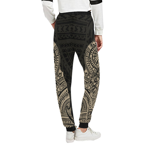 Maori Tattoo New Zealand Sweatpants Version 2.0 with Golden color - Back - For Women