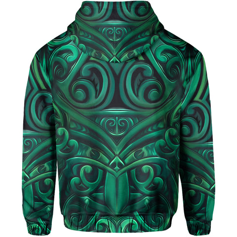 Image of New Zealand Warriors Hoodie Green back