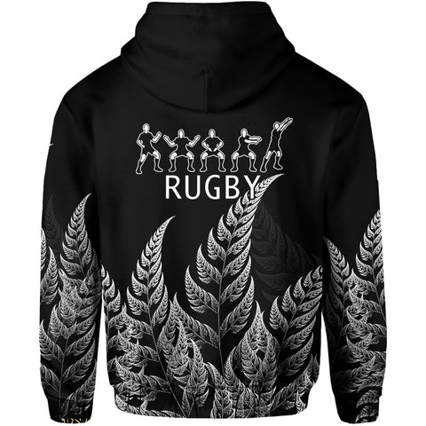 NZ Zip Hoodie Haka Rugby Exclusive Edition K4 - 1st New Zealand