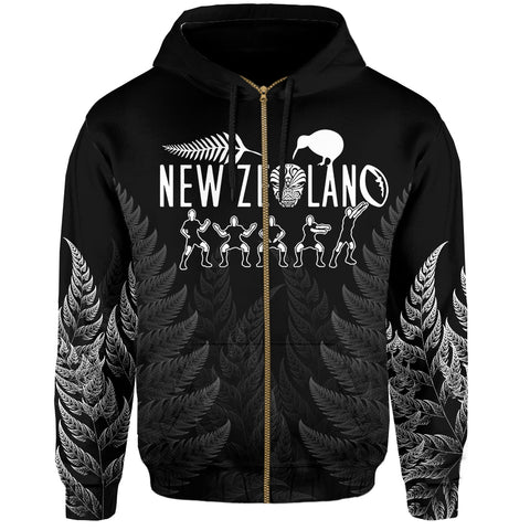 Image of NZ Zip Hoodie Haka Rugby Exclusive Edition K4 - 1st New Zealand