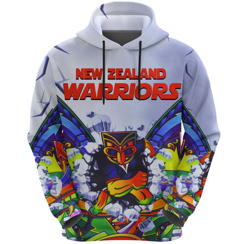 New Zealand Warriors Hoodie Painting K4 - 1st New Zealand