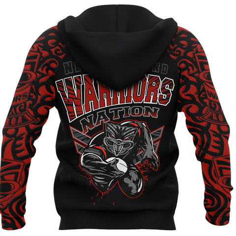 New Zealand Warriors Hoodie Unique Style back