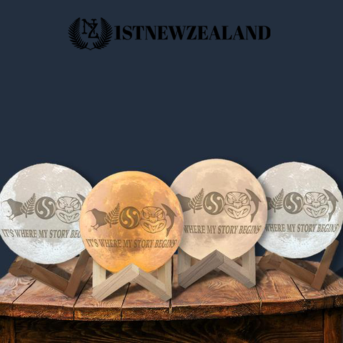 New Zealand It's Where Story Begins Moon Lamp - Special Product - 1st New Zealand