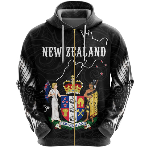 New Zealand Special Zip Hoodie K5 - 1st New Zealand