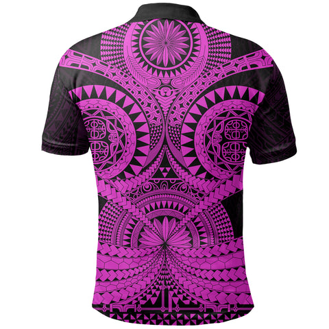 Polynesian Tattoo Polo Shirt Purple 2 TH5 - 1st New Zealand
