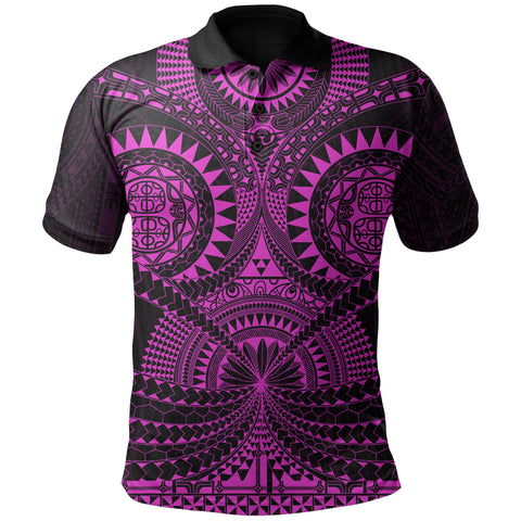 Polynesian Tattoo Polo Shirt Purple TH5 - 1st New Zealand