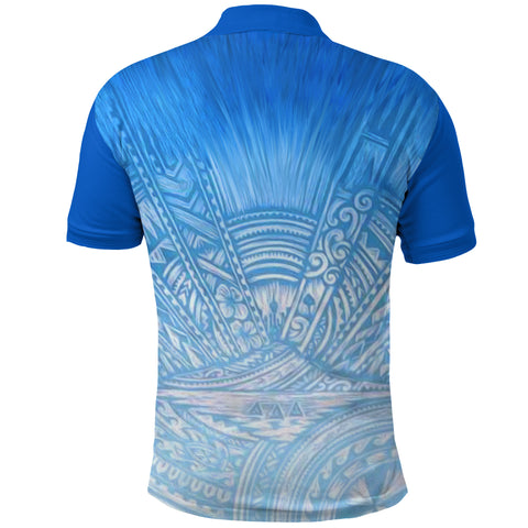 Image of New Zealand Auckland Polo Shirt Blues back