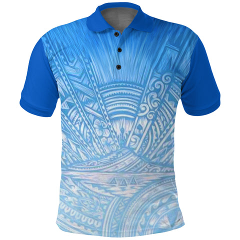 Image of New Zealand Auckland Polo Shirt Blues front