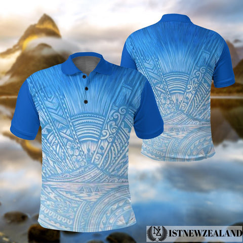 Image of New Zealand Auckland Polo Shirt Blues front and back | Clothing | Blues Super Rugby