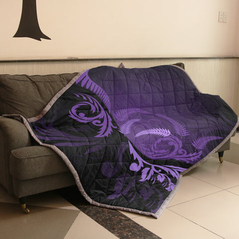 Silver Fern New Zealand Quilt Purple H55 - 1st New Zealand